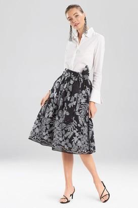 Natori Floral Embroidery Skirt