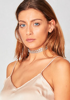 Missy Empire Lily Silver Metal Circle Stone Choker