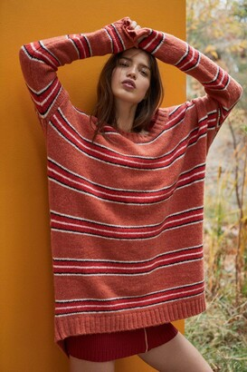 For Love & Lemons Women's Charlie Striped Sweater Dress Large