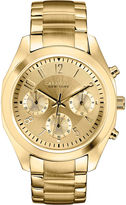 JCPenney CARAVELLE, NEW YORK Caravelle New York Womens Gold-Tone Dial Bracelet Chronograph Watch 44L118