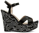 JCPenney Worthington® Florence Stripe Wedge Sandals