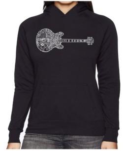 La Pop Art Women's Word Art Hooded Sweatshirt -Blues Legends