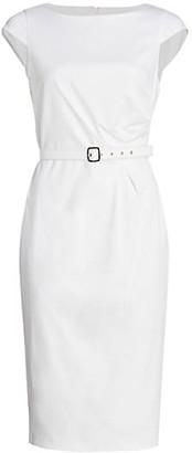 Max Mara Neris Cap Sleeve Sheath Dress