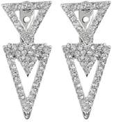 Vince Camuto Pave Crystal Accent Triangle Front to Back Stud Earrings
