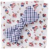 Original Penguin Malisse Plaid Bow Tie & Pocket Square Set