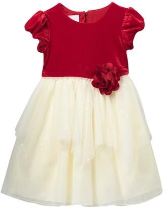 Iris & Ivy Velvet Bodice to Mesh Dress (Little Girls)