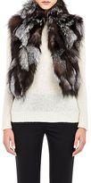 Barneys New York Women's Patchwork Fur Vest-BROWN