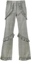 Simone Rocha Prince of Wales checked trousers - women - Cotton/Linen/Flax/Spandex/Elastane/Acetate - 8