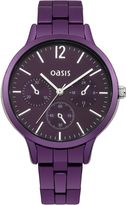 Oasis Ladies purple bracelet watch