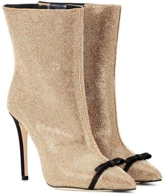 Marco De Vincenzo Crystal-embellished ankle boots