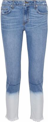 Derek Lam Mila Cropped Degrade Mid-rise Slim-leg Jeans