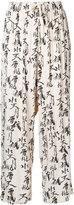 Ikumi - accent printed palazzo pants - women - Rayon - L