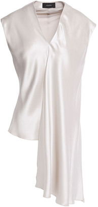Joseph Draped Silk-charmeuse Top