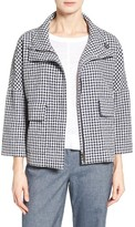 Nordstrom Women's Check Funnel Neck Swing Jacket