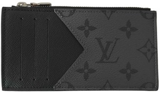 Louis Vuitton Coin Card Holder Grey Cloth Small bags, wallets & cases