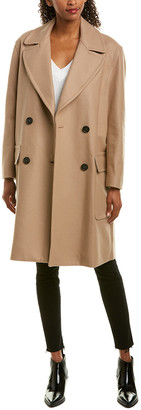French Connection Platform Wool-Blend Coat