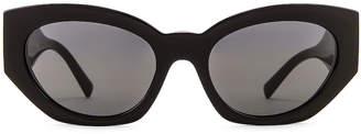Versace Medusa Small Sunglasses in Black | FWRD