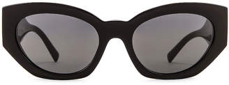 Versace Medusa Small Sunglasses in Black   FWRD