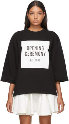 Opening Ceremony Black OC Logo Cut-Off Sweatshirt