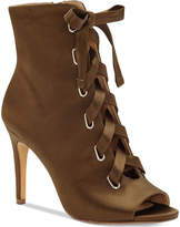 INC International Concepts I.n.c. Romeily Lace-Up Evening Booties, Created for Macy's Women's Shoes