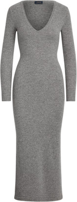 Ralph Lauren Cashmere V-Neck Dress