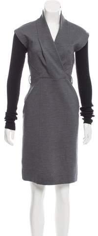 Gucci Knit-Trimmed Mini Dress