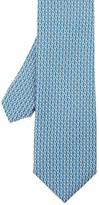 J.Mclaughlin Italian Silk Twill Tie In Mini Rings