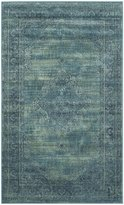 Safavieh VTG112-2220-24 Vintage Collection Turquoise and Multi Area Rug, 2-Feet 7-Inch by 4-Feet