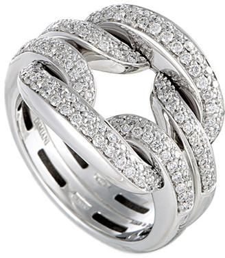 Damiani Certified 18K 0.73 Ct. Tw. Diamond Ring