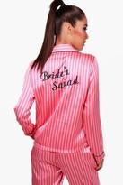 boohoo Beth Candy Stripe Brides Squad Trouser Set