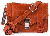 Proenza Schouler PS1 Mini Suede Crossbody Bag, Mahogany