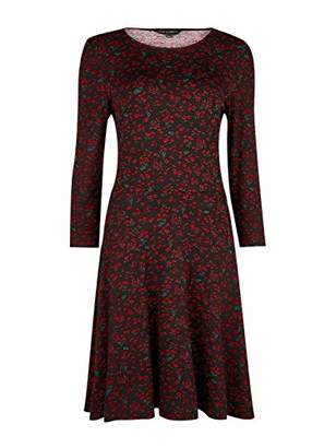 Dorothy Perkins Women's Ditsy Floral Fit & Flare Dress Casual