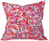 DENY Designs Joy Laforme Floral Forest Throw Pillow