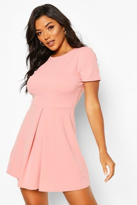 boohoo Pleat Front Skater Dress