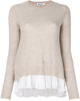 Dondup pleated trim knitted top