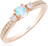 Le Vian Chocolatier Le Vian 14ct Strawberry Gold Chocolate Opal Stacking Ring