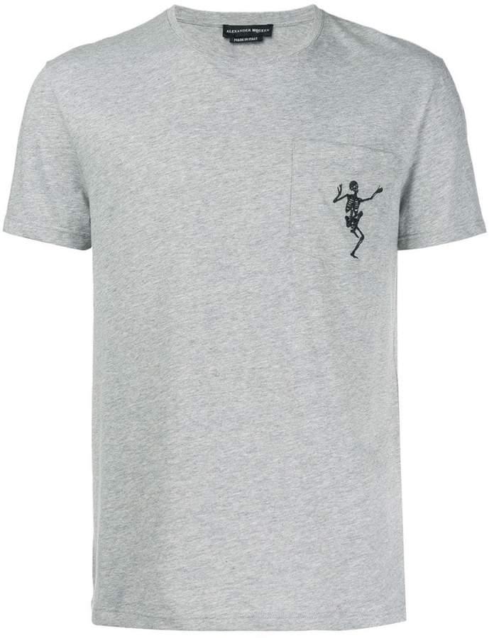 Alexander McQueen embroidered skull T-shirt