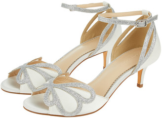 Under Armour Glitter and Satin Bridal Kitten Sandals Ivory