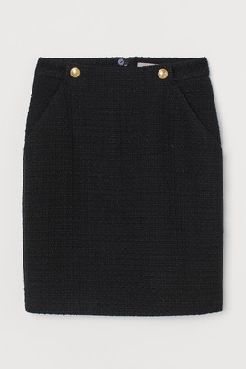 H&M Boucle skirt
