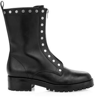 Coach Lara Studded Leather Combat Boots