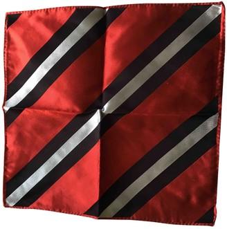 Balenciaga Red Silk Scarves & pocket squares