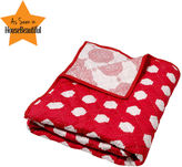 Ikat Dots Baby Quilt - Red