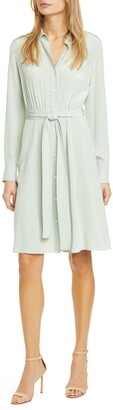 Diane von Furstenberg Dory Long Sleeve Silk Shirtdress