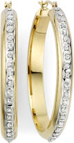 JCPenney FINE JEWELRY Diamond Fascination 14K Yellow Gold Flat Hoop Earrings