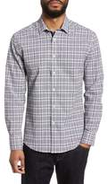 Vince Camuto Slim Fit Plaid Seersucker Sport Shirt