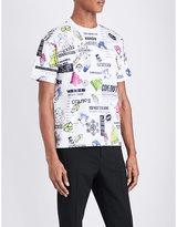 Kenzo Multiple-motif Stretch-cotton T-shirt