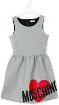 Moschino Kids logo print dress