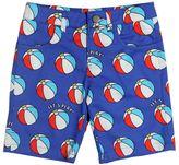 An Italian Theory Beach Ball Print Light Gabardine Shorts