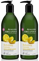Avalon Lemon Hand and Body Lotion, 12 Ounce (Pack of 2)