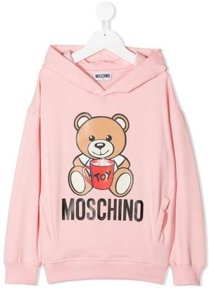 MOSCHINO BAMBINO Teddy Bear Logo Print Hoodie